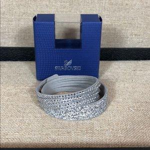 Swarovski Wrap Crystal Silver Bracelet
